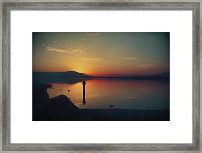 The End Of Another Day Without You Framed Print by Laurie Search