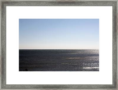 The End Of Long Island Framed Print by John Telfer