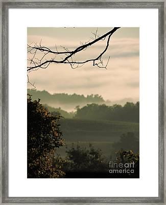 The End Of Summer Framed Print by Helene Guertin