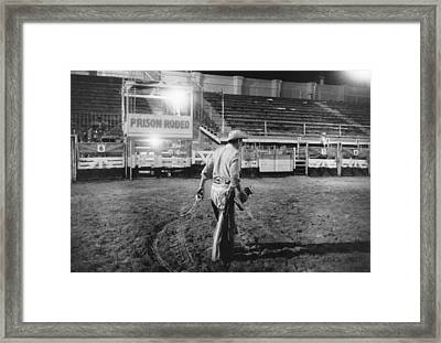 The End Of The Rodeo Framed Print by Underwood Archives