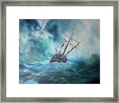 The Endurance At Sea Framed Print by Jean Walker