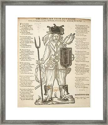 The English Irish Soldier Framed Print by British Library
