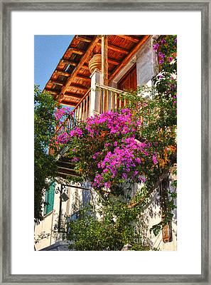 The Entrance Way Mykonos  Framed Print by Tom Prendergast