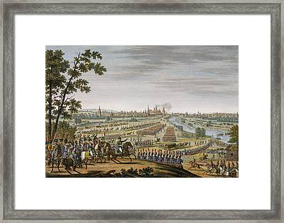 The Entry Of The French Into Moscow, 14 Framed Print by Louis Francois Couche