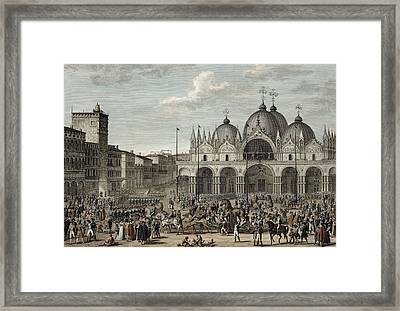 The Entry Of The French Into Venice Framed Print by Antoine Charles Horace Vernet