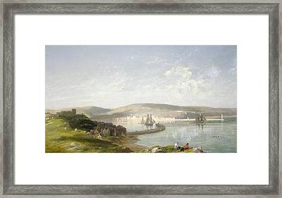 The Estuary Framed Print by James Francis Danby