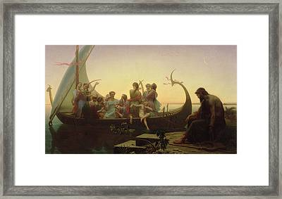 The Evening Framed Print by Charles Gleyre