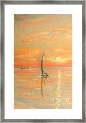 The Evening Light Framed Print by The Beach  Dreamer