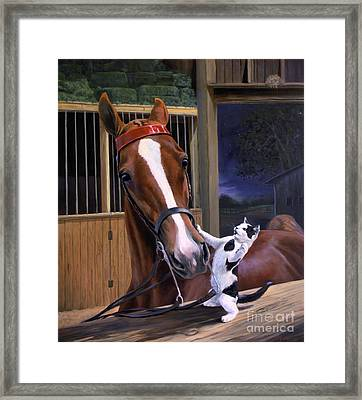 The Evening Post Framed Print by Jeanne Newton Schoborg