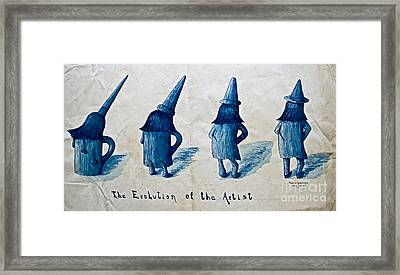 The Evolution Of The Artist Framed Print by Gwyn Newcombe