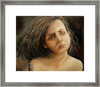 Help Me Framed Print by Jean Cormier