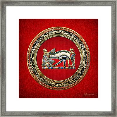 The Eye Of Horus Framed Print by Serge Averbukh