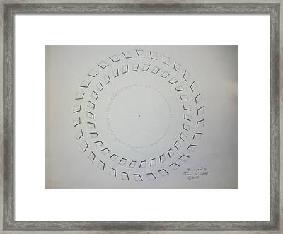 The Eye Of Pi Framed Print by Jason Padgett