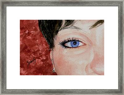 The Eyes Have It - Nicole Framed Print by Sam Sidders
