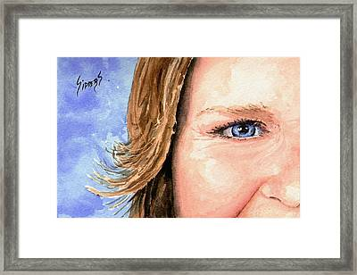 The Eyes Have It - Sherry Framed Print by Sam Sidders