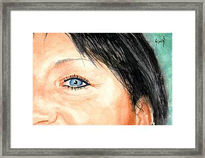 The Eyes Have It - Tami Framed Print by Sam Sidders
