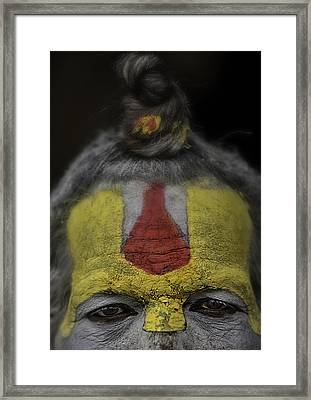 The Eyes Of A Holy Man 2 Framed Print by David Longstreath