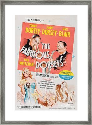 The Fabulous Dorseys, Us Poster, Top Framed Print by Everett