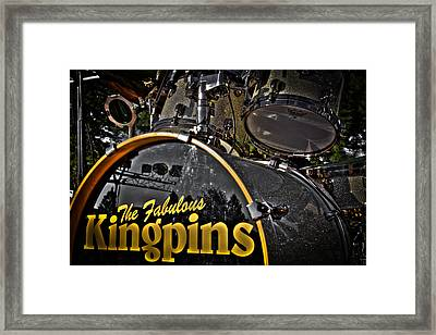 The Fabulous Kingpins Drums Framed Print by David Patterson