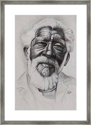 The Face Of Wisdom Framed Print by Raffi Jacobian