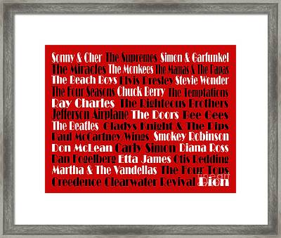 The Faces Of Rock And Roll 2  Framed Print by Andee Design