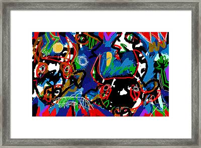The Faces Of Sumeri  Framed Print by Paul Sutcliffe