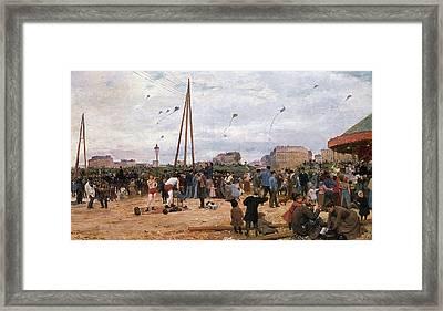 The Fairgrounds At Porte De Clignancourt Paris Framed Print by Victor Gabriel Gilbert