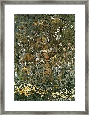The Fairy Feller Master Stroke Framed Print by Richard Dadd