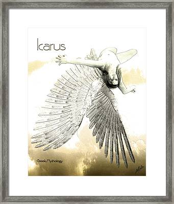 The Fall Of Icarus Framed Print by Quim Abella