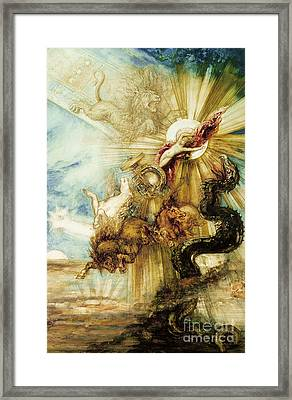 The Fall Of Phaethon Framed Print by Gustave Moreau