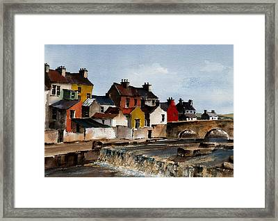 The Falls At Ennistymom Clare Framed Print by Val Byrne