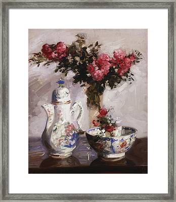 The Famille Rose Coffee Pot Framed Print by Francis Campbell Boileau Cadell
