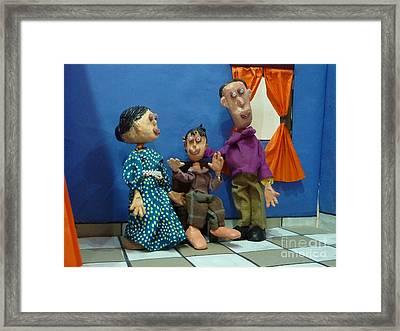 The Family Framed Print by Artist Nandika  Dutt
