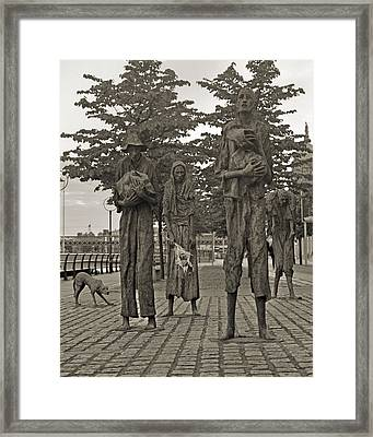 The Famine Dublin Ireland Framed Print by Betsy C Knapp