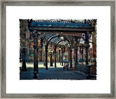 The Famous Pergola In Pioneer Square Framed Print by David Patterson