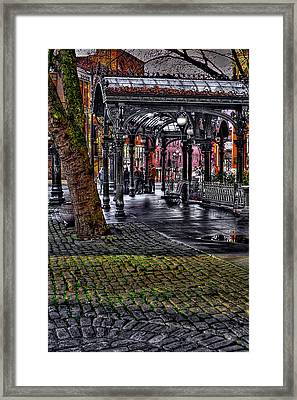 The Famous Pergola In Pioneer Square - Seattle Washington Framed Print by David Patterson