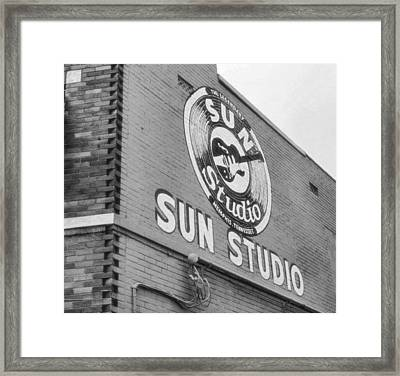 The Famous Sun Studio In Memphis Tennessee Framed Print by Dan Sproul