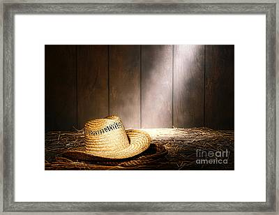 The Farmer Hat Framed Print by Olivier Le Queinec