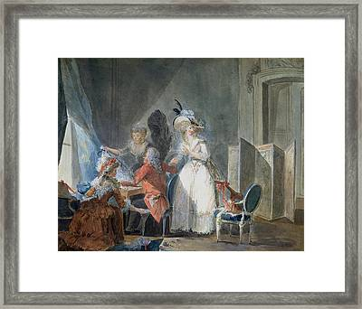 The Fashion Seller  Framed Print by Philibert Louis Debucourt