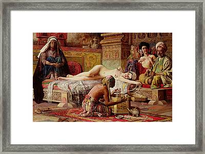 The Favorite Of The Harem Framed Print by Gyula Tornai