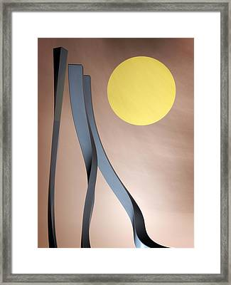 The Fear Of Loose Ends Framed Print by Richard Rizzo