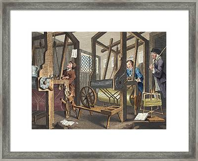 The Fellow Prentices At Their Looms Framed Print by William Hogarth