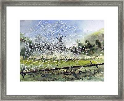 The Fence Builder Framed Print by Sam Sidders