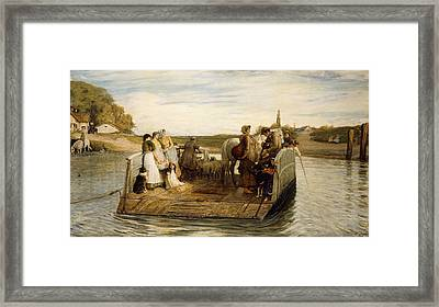 The Ferry Framed Print by Robert Walker Macbeth