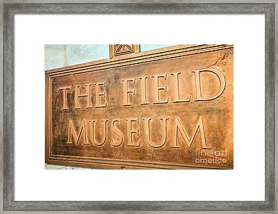 The Field Museum Sign In Chicago Illinois Framed Print by Paul Velgos