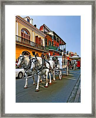 The Final Ride II Line Art Framed Print by Steve Harrington