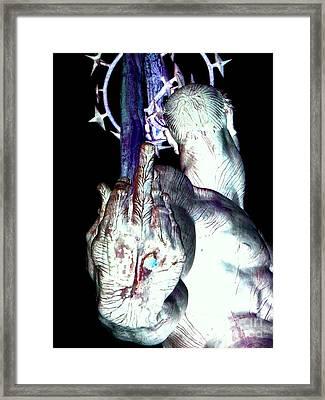 The Finger Framed Print by Ed Weidman