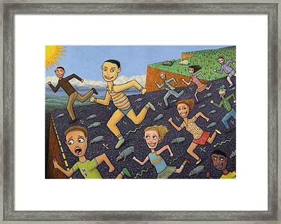 The Finish Line Framed Print by James W Johnson