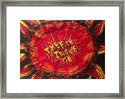 The Fire Inside Me Framed Print by Lisa Piper Menkin Stegeman