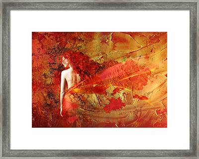 The Fire Within Framed Print by Jacky Gerritsen